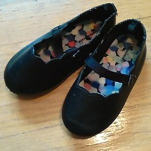Toddler 6 black slip on dress shoes